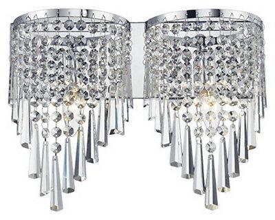 Z-Lite 868CH-2V Tango Two Light Chrome Crystal Vanity Light