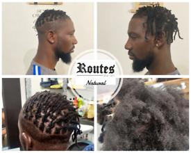 Experienced natural hair Retwist interlock Dreads Starter locs ras