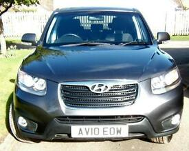 Hyundai Santa Fe 2.2 Diesel Style 7 Seater 4x4 2010 10 plate with just 40k miles