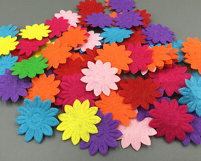 DIY 200pcs Felt Flowers Mixed Colors Appliques Craft Cardmaking decoration - Felt Flowers Diy