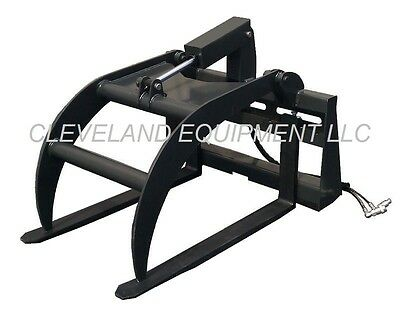 New Pallet Fork Grapple Skid Steer Loader Attachment Tine Log Root Rake Bucket
