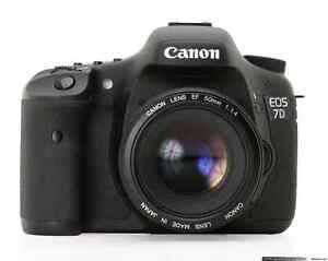 Canon EOS 7D DSLR Camera, lenses, and accessories