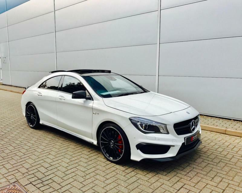 Superior 2015 15 Reg Mercedes Benz CLA 45 AMG 2.0 Coupe WHITE + PAN ROOF +