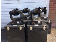 4x iMove Moving Heads (DJ Lights) w/ Padded Hardcases
