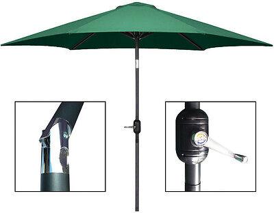 8 ft Aluminum Outdoor Patio Garden Umbrella ...