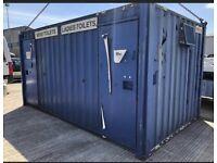 Toilet block (site ) storage container