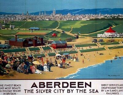 Aberdeen Scotland Silver City... steel fridge magnet (se)