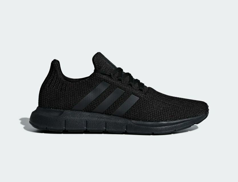 Adidas Originals Men's SWIFT RUN Running Shoes Core Black AQ0863 d