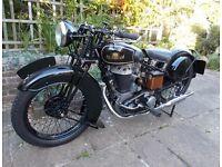 1935 John Marston Sunbeam Lion 500 side valve motorcycle motorbike vintage retro
