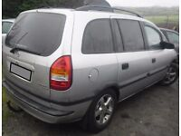 BREAKING 2002 VAUXHALL ZAFIRA 1.6 PETROL -- NO TEXTS PLEASE - NEWRY / ARMAGH