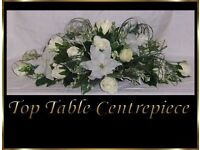 Kelly Ivory Wedding Flowers Top Table & Guest Decorations Lily & Rose Brand New