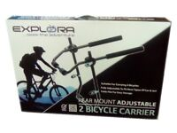 Universal 2 bike car rack. Unused, no box, but straps have been assembled.