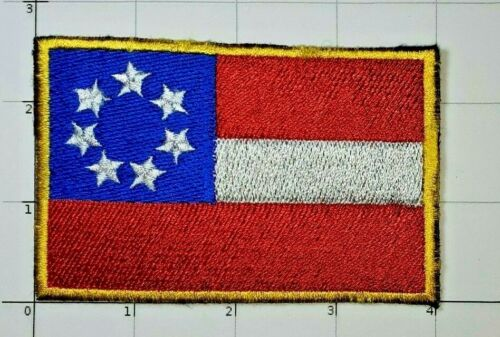 First Flag of the Confederacy Iron On Patch 1861 Civil War Rebel South Dixie