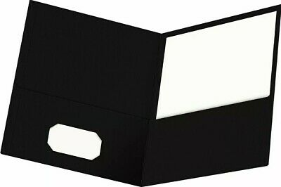 Oxford Twin-pocket Folders Textured Paper Letter Size Black Holds 100 Sheets ...