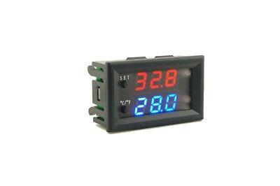Dc 12v Led Digital Thermostat Temperature Controller Temp Sensor Control W2809