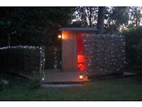 Outdoor or indoor sauna