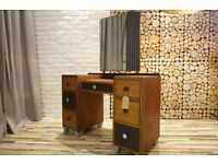 MID CENTURY DRESSING TABLE, CHEST OF DRAWERS, SIDEBOARD, VINTAGE,RETRO,solid wood (FREE DELIVERY)