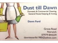 Domestic and commercial cleaning offered.