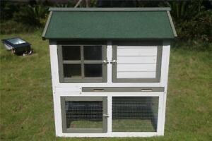 2 Doors XL Double Storey Rabbit Hutch Guinea Pig Ferret Cage