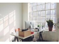2 x desk spaces in sunny and friendly Dalston studio - £234 per desk