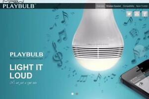 MiPow BTL100S Play Bulb Lite with Speaker, White ,Smart LED Bulb with Bluetooth Speaker