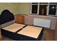 4ft Small double ottoman divan bed