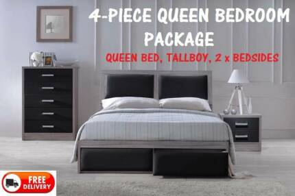 BRAND NEW Complete Queen Size Bedroom Suite DELIVERED FREE