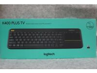 Logitech K400+ pc/smart tv wireless keyboard
