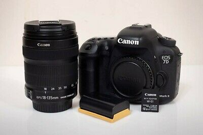 Canon 7D Mk II Kit w/ EF-S 18-135mm IS, Low Shutter Count, tons of extras