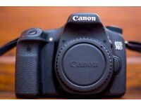 Canon 70d DSLR camera and 10-22mm f3.5-4.5 Canon lens