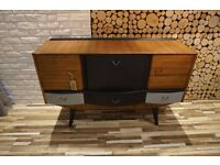 MID CENTURY SIDEBOARD,DRAWERS,VINTAGE (free delivery)