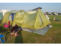 Vango Icarus 500 Camping 5 Sleeper Tent with Awning,Carpet,Footprint,Sink, Mattresses & Loads More