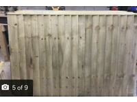 Heavy duty vertical board tanalised fence panels