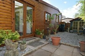 For Sale near Worcester M5 - wooden lodge chalet park home on static caravan site