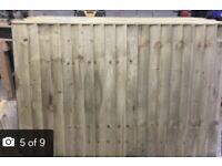 Fence panels vertical board
