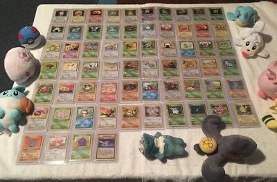 COMPLETE JUNGLE SET POKEMON CARDS 64/64 IN EXC/NEAR MINT CONDITION *TOP LOADED*