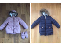 Girl Pink Marks & Spencer (M&S) Jacket / Coat size 6-7 years + F&F Navy Jacket 7-8 years