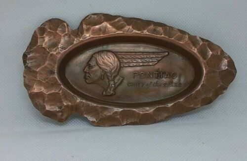Pontiac Chief Of The Sixes Ashtray Arrowhead Retro Advertising Promotion 1930