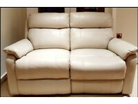 BRAND NEW SUPERIOR QUALITY 2 seater cream genuine electric recliner sofa DELIVERY INCLUDED