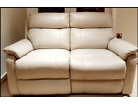 BRAND NEW SUPERIOR QUALITY electric recliner genuine soft leather 2 seater sofa DELIVERY INCLUDED