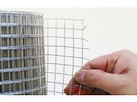 Galvanised Wire Mesh 5 Meter roll, Netting Chicken Rabbit Pet Wire Panel Aviary Fence Barrier Garden