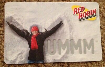Red Robin Gourmet Burgers Gift Card  Snow Angel Yummm  New 2015 No Value