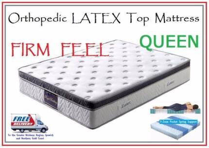 QUEEN Size Orthopedic LATEX Top Mattress - DELIVERED FREE