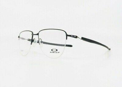 Oakley Men Round Semi-Rim Aviator Plier Satin Black Glasses OX 5142-01 54mm (Aviator Eyeglasses For Men)