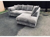 BRAN NEW COUCHES ON SALE DYLAN JUMBO CORD CORNER SOFA AVAILABLE IN BEAUTIFUL COLOURS