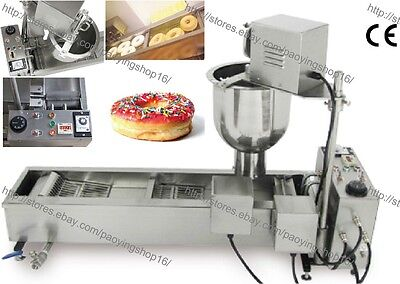 500pcsh Heavy Duty Electric Auto Cake Donut Doughnut Maker Machine Fryer 3 Mold