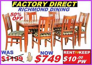 New Dining Suite 7 Piece. Cash $749 Or RENT TO KEEP $10 PW. Ipswich Region Preview