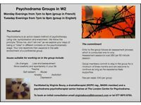 Psychodrama Psychotherapy Groups in W2 opening from 2017