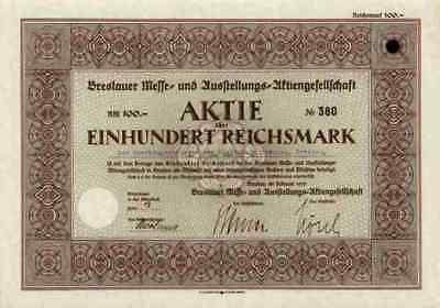 Breslauer Messe 1939 Breslau Wroclaw Schlesien 100 RM Hans Fridrich Waldenburg