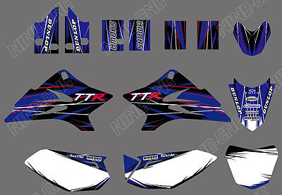 TEAM  GRAPHICS BACKGROUNDS DECALS for YAMAHA TTR50 2006-2015 07 for sale  Shipping to South Africa